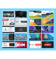 Set of Creative and Clean Business Card Print vector image