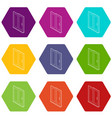 sliding door icons set 9 vector image vector image