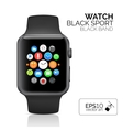Smart watch on white vector image vector image