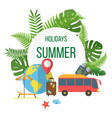 summer holidays colorful poster vector image vector image