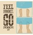 Summer phrase typographic vintage grunge poster vector image vector image