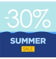 summer sale poster with sea background vector image vector image
