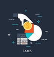 taxes flat concept vector image vector image