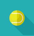 tennis ball flat icon vector image