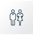 toilet icon line symbol premium quality isolated vector image vector image
