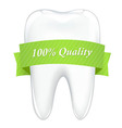 Tooth With Tape vector image vector image