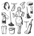 Vintage Cleaning Service Elements Collection vector image vector image