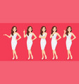 woman in dress set vector image