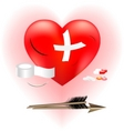 wounded heart vector image vector image