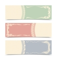 Blank decorative banners vector image