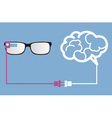 smart glasses connect to brain vector image