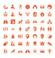 49 human icons vector image vector image