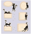 6 Cat Labels vector image vector image