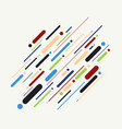 Abstract of colorful stripes line pattern