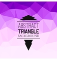 Abstract purple triangle pattern vector image vector image