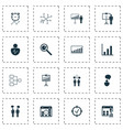 administration icons set with business goals idea vector image