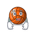 afraid volleyball mascot cartoon style vector image vector image