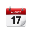 august 17 flat daily calendar icon date