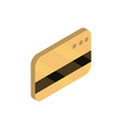 bank card online shopping isometric icon vector image vector image
