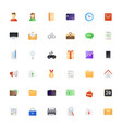 big icon set colored semi flat icons pack for vector image vector image