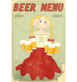 blond girl with beer vector image vector image