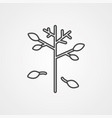 branch icon sign symbol vector image vector image