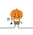 cartoon halloween guy vector image