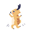 cartoon reindeer dancing vector image