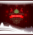 christmas red dark still life with white christmas vector image