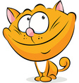 cute ginger cat sitting isolated on whit a vector image vector image