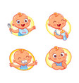 design template for baby food vector image vector image