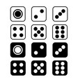 dice with rounded corners isolated on white vector image vector image
