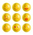 Emoji emoticons set vector image vector image