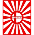 England flag on sun rays backdrop vector image