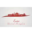 Exeter skyline in red vector image vector image