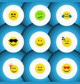 flat icon emoji set of have an good opinion vector image vector image