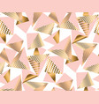 gold and pale rose pyramid with pattern vector image vector image