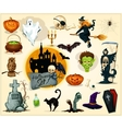 Halloween icons and symbols set vector image vector image