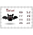 halloween set of cute cartoon bat character for vector image vector image