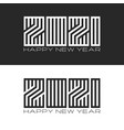 happy new year logo 2021 creative monogram number vector image