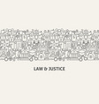law justice banner concept vector image vector image
