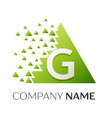 letter g logo symbol in colorful triangle vector image vector image