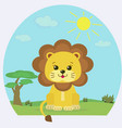 lion cub on the nature in the afternoon vector image