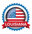 Louisiana and USA flag badge vector image vector image