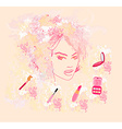 Make-up girl - poster vector image vector image