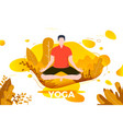 man in yoga lotus pose vector image vector image