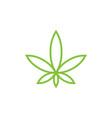 marijuana cbd extract products logo vector image