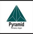 modern arrow geometric polygon triangle pyramid vector image vector image