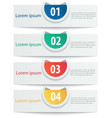 numbered tab web banners and mobile vector image vector image