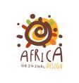 original african logo design template